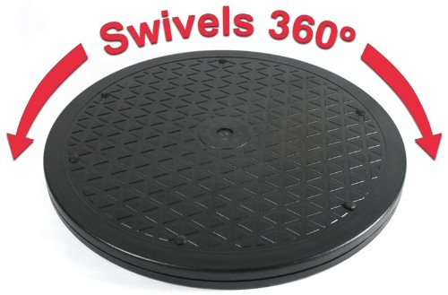 (LapWorks 15 inch Heavy Duty Swivel - for Computer Monitors, Potted Plants, Art, and Various Utility uses with Steel Ball Bearings )