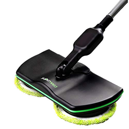 Electric Spin Mops for Floor Cleaning, Woolala Cordless Effortless Floor Cleaner Auto Rotating Mop, Polisher and Scrubber for Indoor Any Surfaces