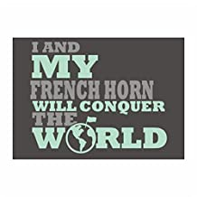 Idakoos - I and my French Horn will conquer the world - Instruments - Sticker Pack x4