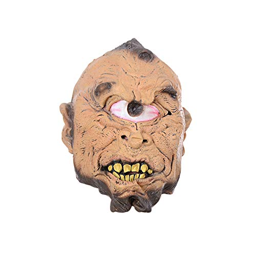 WeiYun Scary Zombie Natural Latex Mask Horror Head One Eye Mask Favors Creepy Ugly Mask Cosplay Costume Party Props for Halloween for $<!--$8.49-->