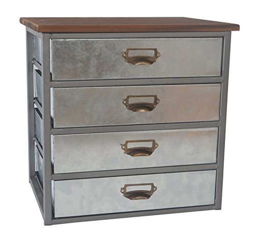 cheungs-4624-rattan-imports-galvanized-4-drawer-vertical-organizer-with-label-scoop-handle-metal-fra
