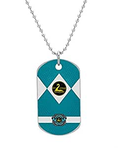 Lockness Power Ranger Dog Tag Custom Photo Dimensions: 1.2 x 2 X 0.1 inches with 30