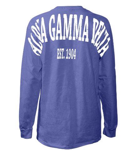 Alpha Gamma Delta Stadium Shirt Purple Small