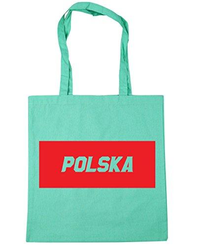 HippoWarehouse polska relleno caja bolsa de la compra bolsa de playa 42cm x38cm, 10litros verde menta