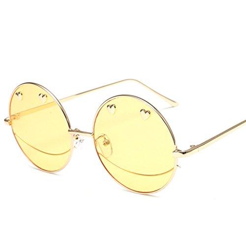 sol de Gafas Color Gafas Gafas X989 Personalidad de Ronda de Gafas Elegantes de Las A D sol Moda señoras de dvTwXq