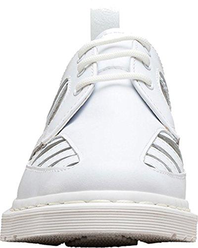 cordones mujer Weiß de para Martens 21877100 de Dr Zapatos Piel 6I1qz