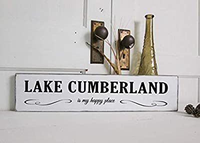 weewen Lake Cumberland Kentucky Sign Rustic Lake Sign Wood Sign Wall Decor Garden Signs and Plaques