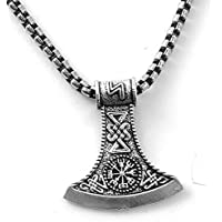 Viking Amulet Jewelry Axe Norse Viking Thors Hammer mammen Pendant Necklace for Men Boys