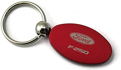 DanteGTS Ford F-250 F250 Logo Anodize Aluminum Oval Key Chain Red