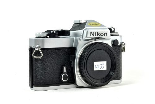 Chrome Nikon FE SLR film camera; body only, lens is not (Nikon Film)
