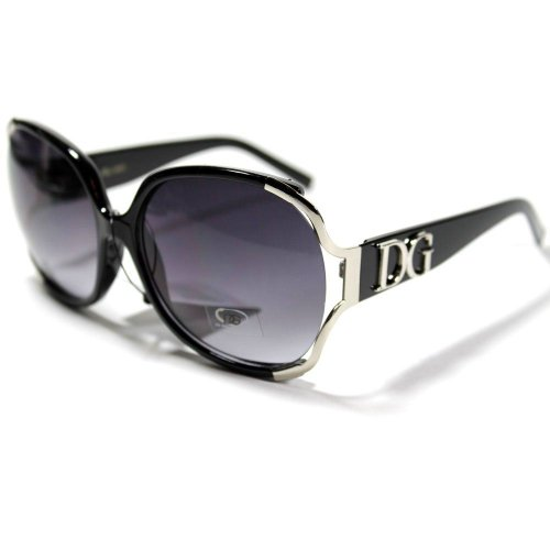 DG Eyewear Celebrity Inspired Vintage Women's Sunglasses Oversized Frame