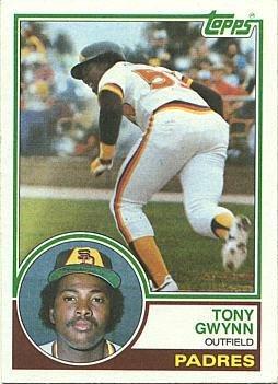 - 1983 Topps Baseball #482 Tony Gwynn Rookie Card