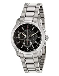 Accutron by Bulova Stratford Chronograph Stainless Steel Mens Watch Date 63B141