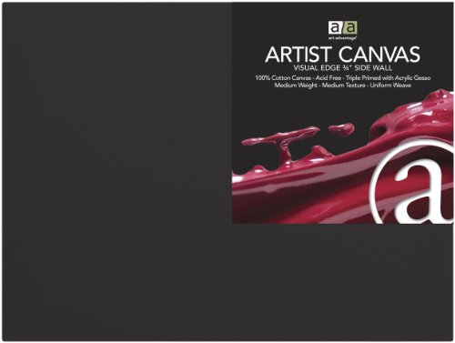 Art Advantage Artist Canvas, 18 by 24-Inch, Black by C2F, Inc.