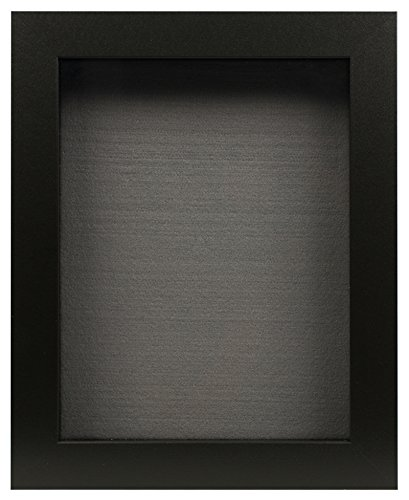Golden State Art Black Shadow Box Frame Display Case, 2-inch Depth, 8 x 10.5 inch (Black)