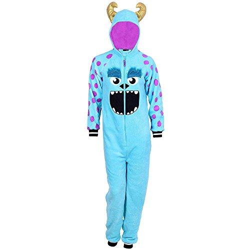 Disney Women's One Piece Pajama Set Union Suit Sleepwear (Sulley Plush, 3X)]()