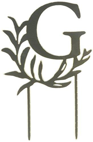 Fairy Tale Wedding Cakes - Weddingstar Letter G Modern Fairy Tale Monogram Acrylic Cake Topper, Metallic Gold