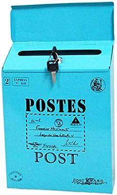 Caja de Correos Revistas, Buzón de Correos de Pared - Blue_Big Letters: Amazon.es: Bricolaje y herramientas