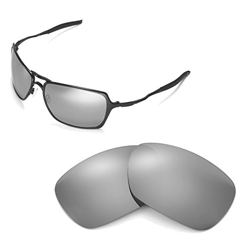 Walleva Replacement Lenses for Oakley Inmate Sunglasses - Multiple Options Available (Titanium Mirror Coated - Polarized)