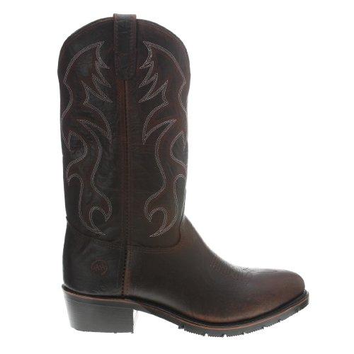 Stivale Double-h Uomo 2282 Western Toe Cowboy Boot Da Lavoro Marrone Chiaro Pelle Pieno Fiore