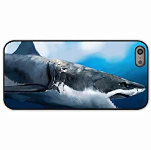 iPhone 5 5S Black Hardshell Case maw art water hunger profile Desin Images Protector Back Cover