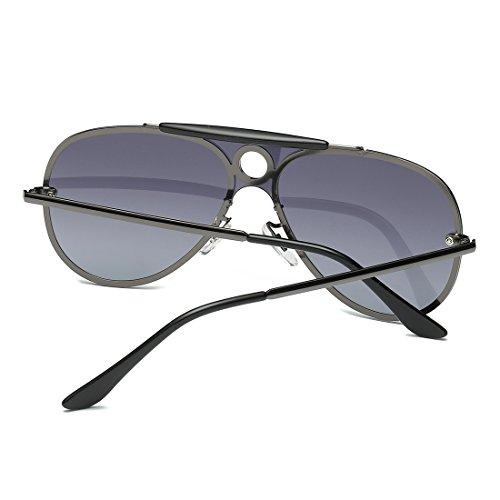 2addcbbe98 Kimorn Polarizado Gafas De Sol Hombre Estilo Integrado Lente Piloto Anteojos  K0584 50% de descuento