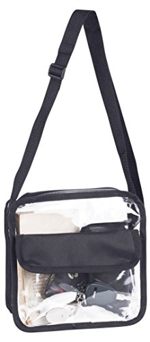 Bag Nfl Purse Sports (Clear Messenger Cross-Body Bag with Strap Shoulder Pocketbook NFL Approved)