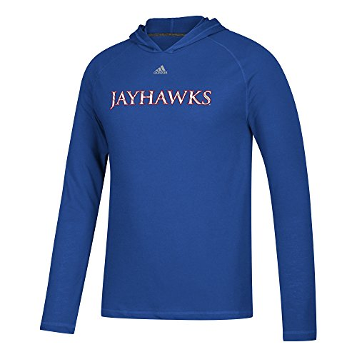 Kansas Shorts Adidas Jayhawks (adidas NCAA Kansas Jayhawks Mens Line Shine Ultimate L/S Hoodline Shine Ultimate L/S Hood, Collegiate Royal, X-Large)