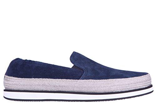 Prada women's suede slip on sneakers blu US size 9 3S5968 OLZ - Online Prada Shop