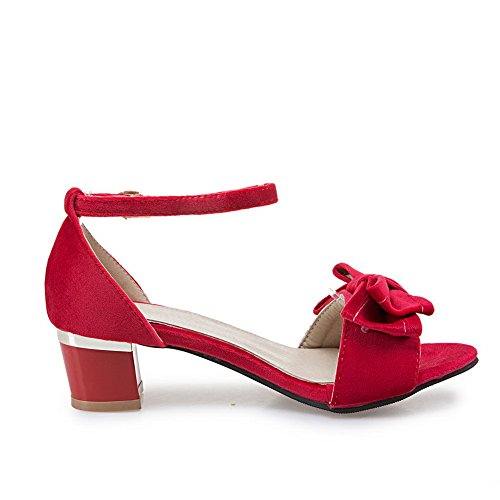 Bows Womens MJS02514 Sandals Square Red Sandals 1TO9 Urethane Heels Efqd50w