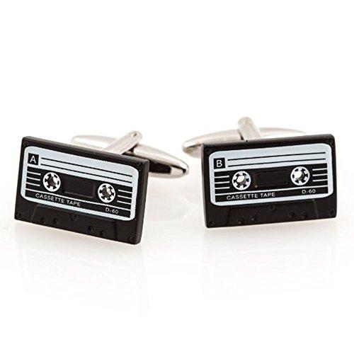 Cassette Tape Player Dj Retro Cufflinks + Box & Cleaner