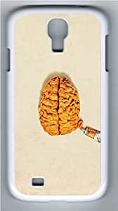 Brain Tube PC Case Cover for Samsung Galaxy S4 I9500 White by Maris's Diaryby Maris's Diary