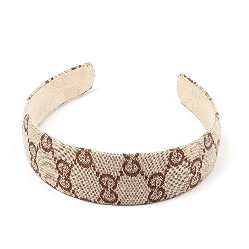 Girliber handmade headband and Hair elastic, hair accessories (Headband), 1 Brown