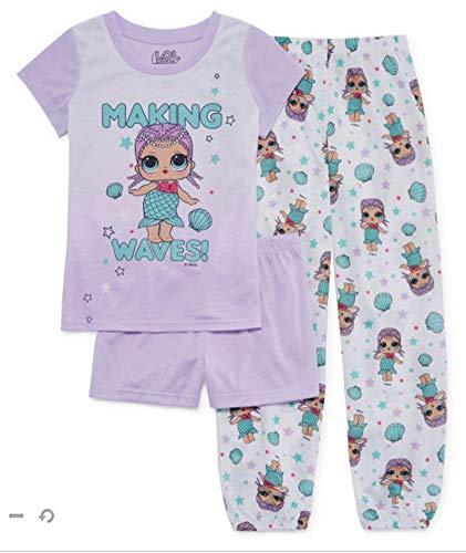 - LOL Surprise Girls Making Waves Three-Piece Pajama Set (8, Purple)