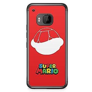 Loud Universe Super MArio Turtle HTC M9 Case Red Mario Logo HTC M9 Cover with Transparent Edges