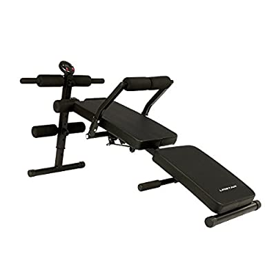 URSTAR Weight Bench Foldable and Adjustable, Incline/Decline Benchs, Multi-Function Pull Up, Sit Up, Dumbbell, Ab Bench Set with LCD Monitor in Home Gym for Full Body Workout