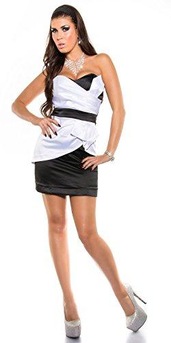 In-Stylefashion - Vestido - para mujer Weissschwarz