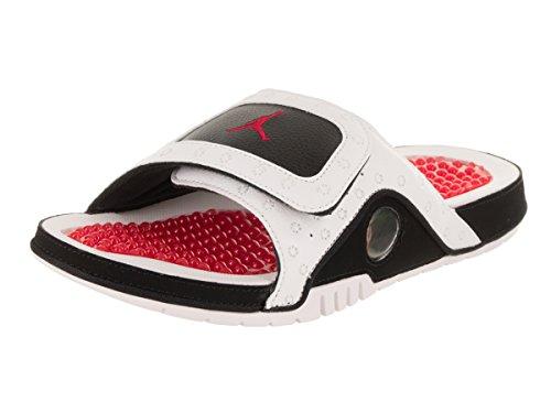 Jordan Nike Men's Hydro XIII Retro White/True Red/True Red/Blk Sandal 12 Men US (Blk Mens Footwear)