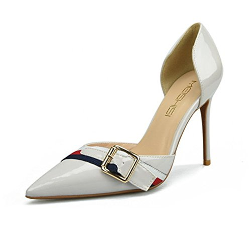 Toe Stiletto Grey Heel Sandals Pointed High Wedding Shoes Party ZPL Women's Dress Court Pumps fwtT1Yq