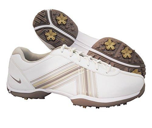 Nike Golf Women's Nike Delight IV Golf Shoe - White Vapor Mauve Gamma Grey - 10 M US