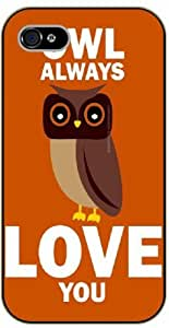 iPhone 5 / 5s Owl always love you, vintage orange - black plastic case / Animals and Nature, owl, owls