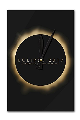 - OKSLO Charleston, South Carolina - Eclipse 2017 - Lantern Press Artwork (Acrylic Wall