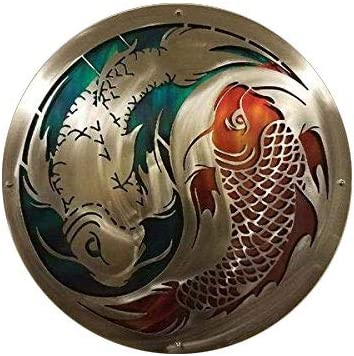 Amazon Com Metal Art Of Wisconsin Painted Layered Koi Fish