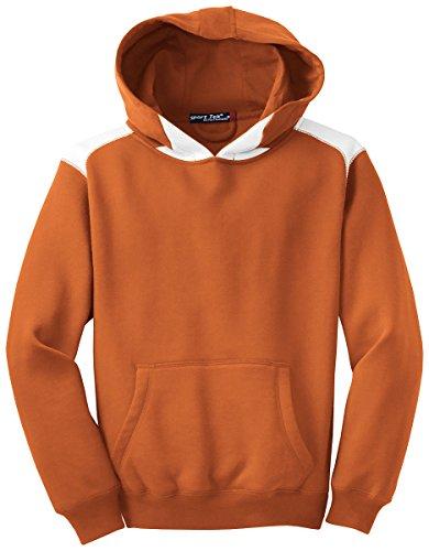 - Sport-Tek Boys' Pullover Hooded Sweatshirt with Contrast Color L Texas Orange