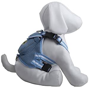 Pet Life DPF42013 Mesh Dog Harness Backpack with Pouch, Small, Blue