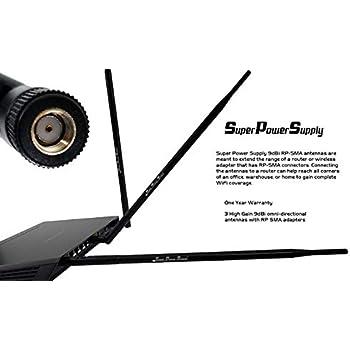 2 6dBi Dual Band WiFi RP-SMA flat Antenna Omni Directional for Buffalo Router