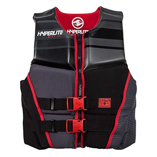 Hyperlite Men's Prime Life Jacket Black/Red (L)