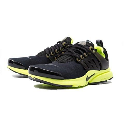 Nike Kid's Presto (GS), BLACK/DARK GREY-VOLT, Youth Size 5 by NIKE