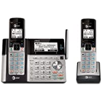 AT&T TL96273 DECT 6.0 Expandable Cordless Phone with Bluetooth Connect to Cell, Answering System and Base Speakerphone, 2 Handsets, Silver/Black by AT&T