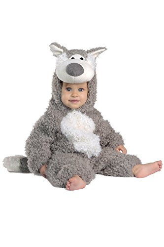 Princess Paradise Baby Boys' Big Bad Wolf Deluxe Costume, Grey/White, 6-12 M